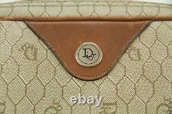 Sac Christian Dior Vintage 80s en cuir et toile monogramme