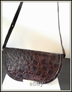 Sac Christian Dior vintage! En croco marron ancien bag borsa pochette