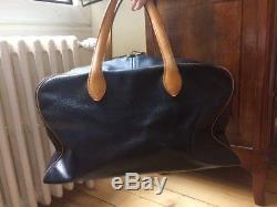 Sac Cuir Hermes Paris Victoria Vintage Noir Marron Bag Leather