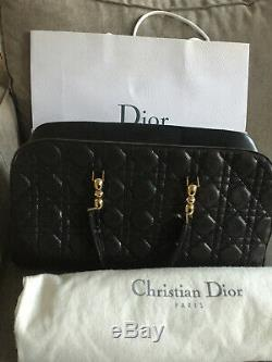 Sac Dior Matelasse Noir Cuir Vintage