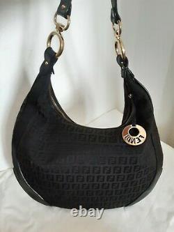 Sac FENDI Zucca Hobo en toile et Cuir FENDI Zucca Front Pocket Hobo bag