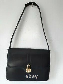Sac Gucci Bandoulière en Cuir Noir Gucci Vintage Shoulder bag