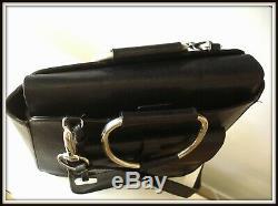 Sac Gucci Caba collector cuir noir made Italie bag borsa vintage collection