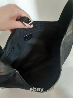 Sac Gucci Vintage en Toile Monogrammé et Cuir Noir GUCCI Vintage Monogram Bag