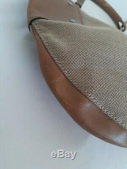 Sac Gucci Vintage en Toile et Cuir Gucci Vintage Bag