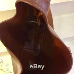 Sac HERMES vintage modèle Tsako en cuir Marron Vintage Hermès Bag