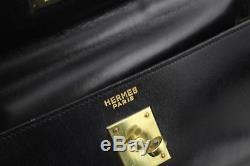 Sac Hermes Kelly 32 Vintage cuir noir