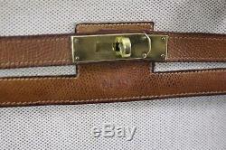 Sac Hermes Kelly 35 Vintage toile et cuir. Copie Facture Spa Hermes