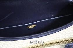 Sac Hermes Vintage Balle de Golf toile et cuir