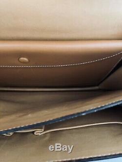Sac Hermes Vintage Piano En Cuir Et Toile Parfait État
