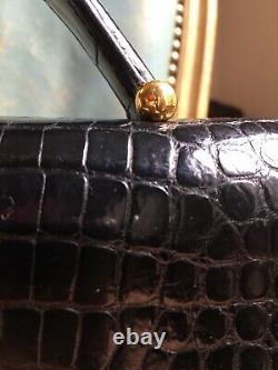 Sac Hermes crocodile vintage