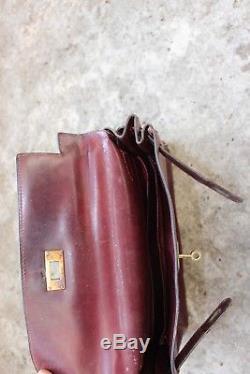 Sac Hermès kelly bordeaux couture sellier vintage Hermes kelly red bag 29 cm