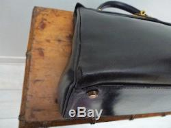 Sac Hermès kelly cuir noir 32 box vintage Hermes kelly bag black box vintage