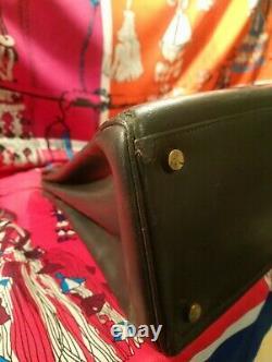 Sac Kelly Hermès Gris Vert Vintage 28 cm authentique