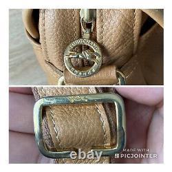 Sac LONGCHAMP Cuir Camel Bandoulière Vintage! Taille 29x21cm Made in France