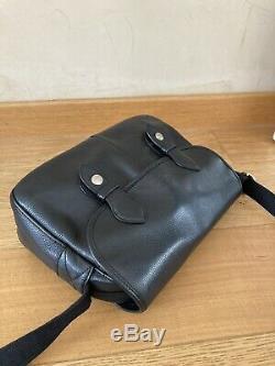 Sac LONGCHAMP Cuir Noir Bandoulière Le Foulonné Vintage 30x21cm Bon Etat Bag