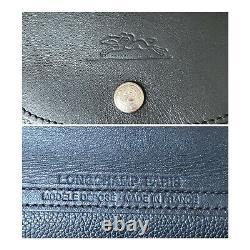 Sac LONGCHAMP Pliage Cuir Noir Vintage! Taille 40x23cm Made in France Original