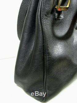 Sac Lancel Cuir Noire Vintage Collection