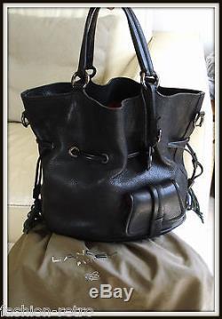 ead2df7040d Sac Lancel Premier Flirt Cuir Noir Made France! Modèle Vintage Bag Borsa
