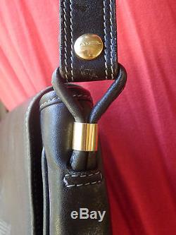 Sac Lancel Vintage Bandouliere Cuir Noir