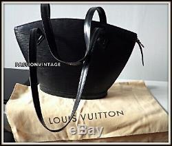 Sac Louis Vuitton Modèle St Jacques PM cuir épis noir bag borsa vintage