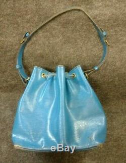 Sac Louis Vuitton petit Noé Vintage cuir épi bleu