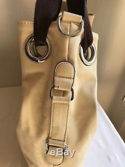 Sac Prada Dual Milano en cuir Vintage Authentique prix neuf 1850 made in italy