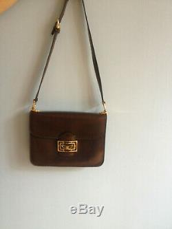 Sac Vintage Celine Bag Classic Box Marron Rare