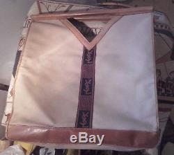 Sac Yves Saint Laurent. Cuir et Toile ancien Vintage 40.40 cm