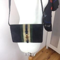 Sac à Main Vintage Style Céline Gucci Daim Noir