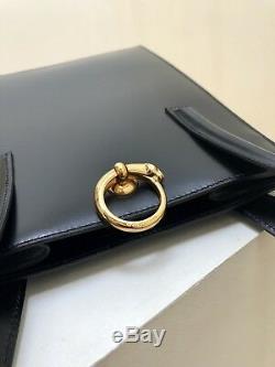 Sac à Main de Luxe Cartier cuir noir Vintage Modèle 1999 NEUF
