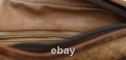 Sac à main CELINE porté bandoulière, toile et cuir VINTAGE