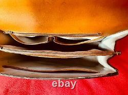 Sac à main Lancel vintage (année 60) en cuir marrron
