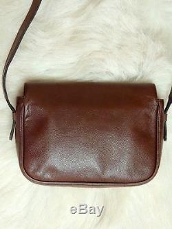 Sac à main Vintage à bandoulière en cuir marron Céline valeur 1150