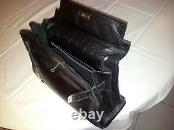Sac à main Vintage patrick BLANC d'inspiration HERMES Kelly en cuir noir