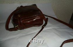 Sac à main en cuir THE BRIDGE TBEG authentique réf (037708) & vintage Bag