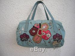 Sac à main en toile PRADA (Italy) authentique(réf31) TBEG & vintage Bag
