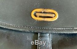 Sac à main vintage balle de golf en cuir box noir Hermès