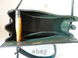 Sac à main vintage en cuir vert, TBE