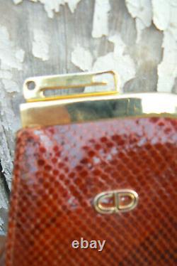 Sac baguette Christian Dior python vintage