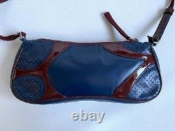 Sac baguette en cuir perforé bowling PRADA Vintage 1990 bowler bag
