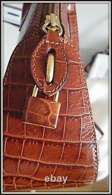 Sac bolide Lancel cuir frappé croco housse main bandoulière bag borsa vintage