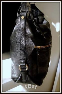 Sac caba épaule Lancel cuir noir vintage bag