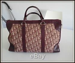 Sac caba shopping Christian Dior monogramme bordeaux bag borsa vintage ancien