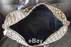 Sac de Voyage CHRISTIAN DIOR Toile Monogramme et Cuir Vintage 70 Bag