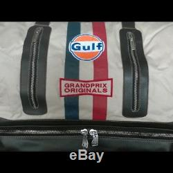 Sac de sport Gulf vintage beige coton / cuir