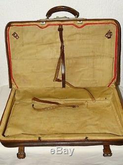 Sac de voyage valise ancienne cuir vintage old vintage travel bag suitcase