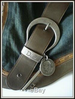 Sac épaule saddle Gaucho Christian Dior cuir tissu bag borsa vintage