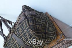 Sac fendi en toile monogram et cuir vintage Fendi monogram bag vintage