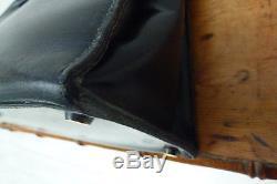 Sac hermès kelly 29 box bleu couture sellier vintage Hermes kelly blue bag 29 cm